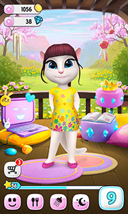 Outfit7 my talking angela dont forget about her fave friend talking tom he also has his own tamagotchi style app altavistaventures Images