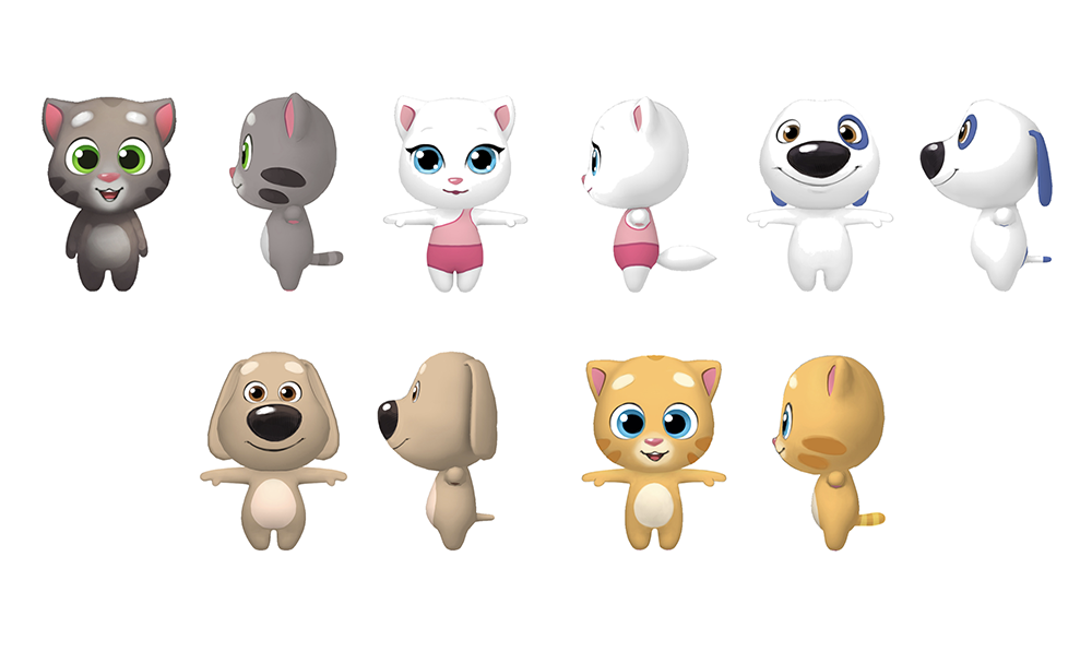Fig. 2: Final Talking Tom Gold Run character designs