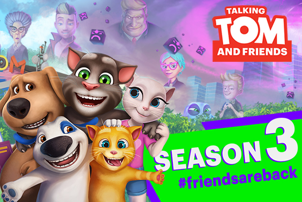 TALKING TOM AND FRIENDS ARE BACK