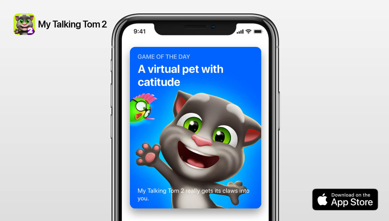 Outfit7 - Apple features My Talking Tom 2 on Today Tab!